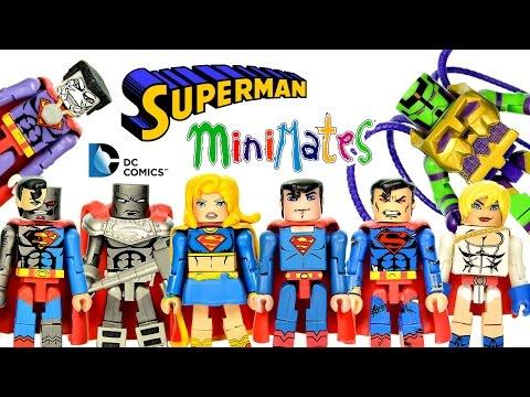 DC Super Heroes Minimates Superman Collection w/ Supergirl Bizarro & Braniac