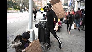Harassing A Homeless Experiment (Social Experiment)