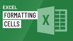 Excel: Formatting Cells