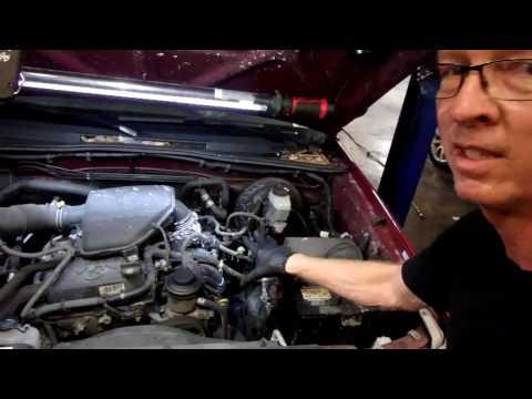 2005 toyota tacoma 2. 7 l coolant leak under intake and radiator ... toyota tacoma 2 7 engine diagram  youtube