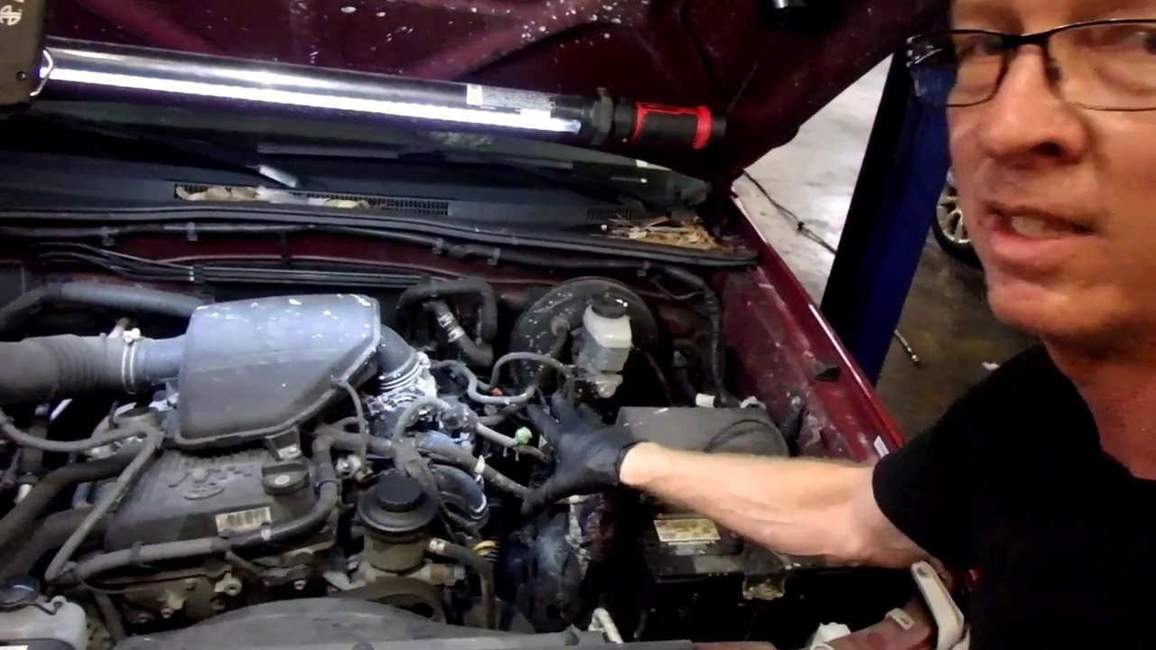 2005 toyota tacoma 2  7 l coolant leak under intake and radiator