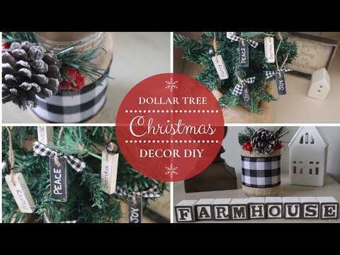 DIY DOLLAR TREE CHRISTMAS DECOR | FARMHOUSE CHRISTMAS