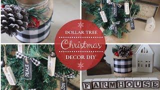 DIY DOLLAR TREE CHRISTMAS DECOR   FARMHOUSE CHRISTMAS