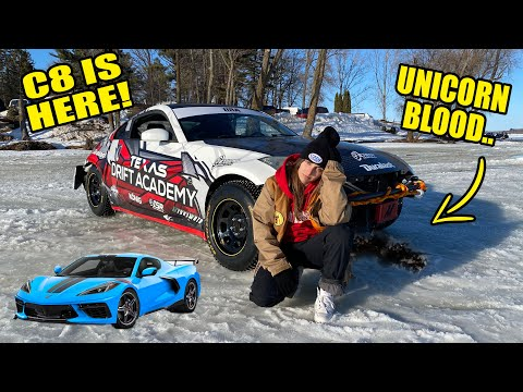 I BLEW UP MY FIRST 350Z ICE DRIFTING