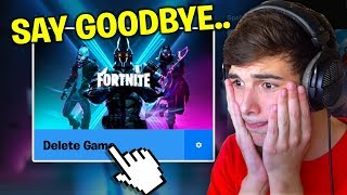 The End Of My Fortnite Channel.. (NOT CLICKBAIT lol)