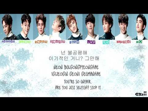EXO(엑소) - 불공평해 (Unfair) (Color Coded Han/Rom/Eng Lyrics)