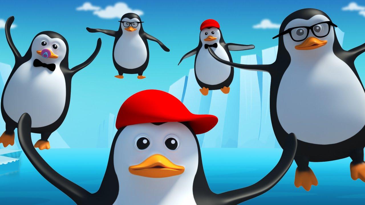 Five Little Penguins Nursery Rhyme Kids Songs Kids