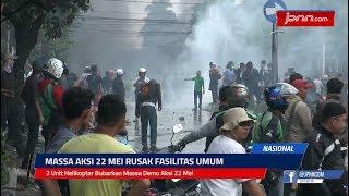 2 Unit Helikopter Bubarkan Massa Demo Aksi 22 Mei - JPNN.COM