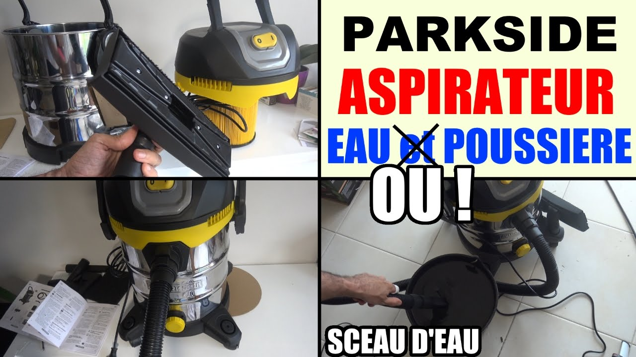 aspirateur eau et poussiere parkside pnts 1400 d1 lidl wet and dry vacuum cleaner youtube