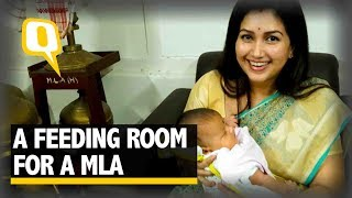 Assam BJP MLA Demands a Feeding Room for her Child - The Quint
