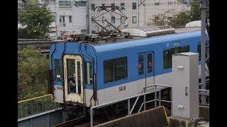 阪神5517F神戸方ユニット分割入換(妻面先頭)&5515F入換