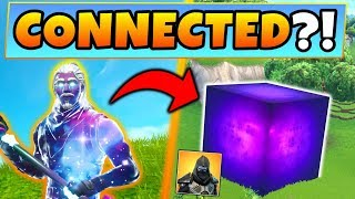 Fortnite CUBE - LA PEAU DE LA GALAXIE SONT CONNECTÉS?! 8 indices/changements expliqués (Battle Royale Gameplay)