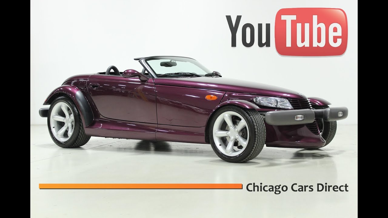 Chicago cars direct presents a 1997 plymouth prowler roadster purple agate x13496