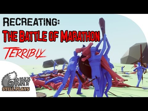 Recreating the Battle of Marathon - Totally Accurate Battle Simulator - TABS Gameplay Highlights