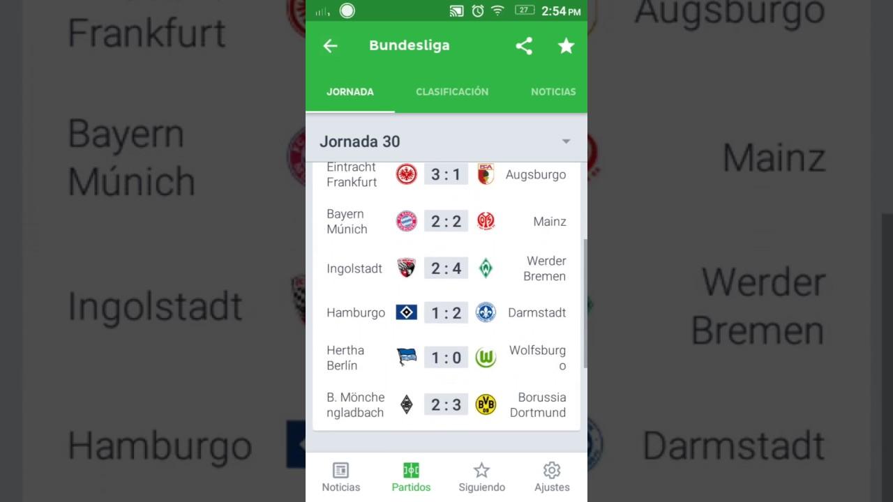 Bundesliga Table 16/17