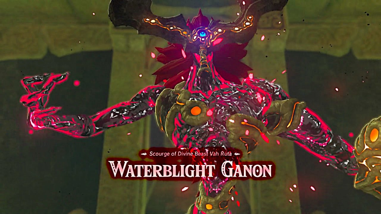 Waterblight Ganon First Boss Fight Legend Of Zelda Breath Of The Wild