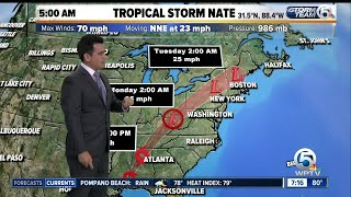 Tropical Storm Nate update 10/8/17 - 7am report