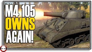 War Thunder M4 105mm Sherman OWNS again!