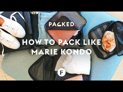 How to pack a suitcase Marie Kondo style | Packed