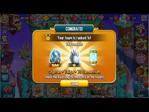 Monster Legends : Review Cryotan level 1 to 130 combat PVP