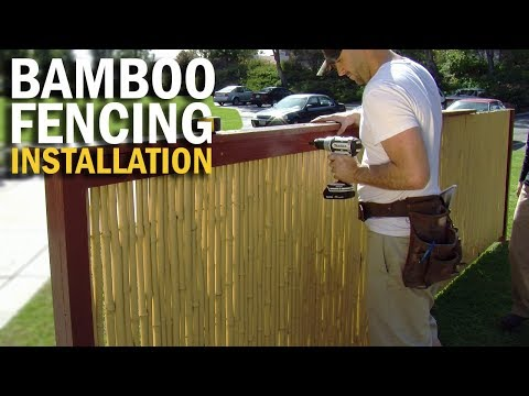 Cali Bamboo® Fence Installation