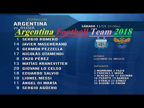 Argentina squad for worldcup football 2018 Russia [FIFA World Cup] |