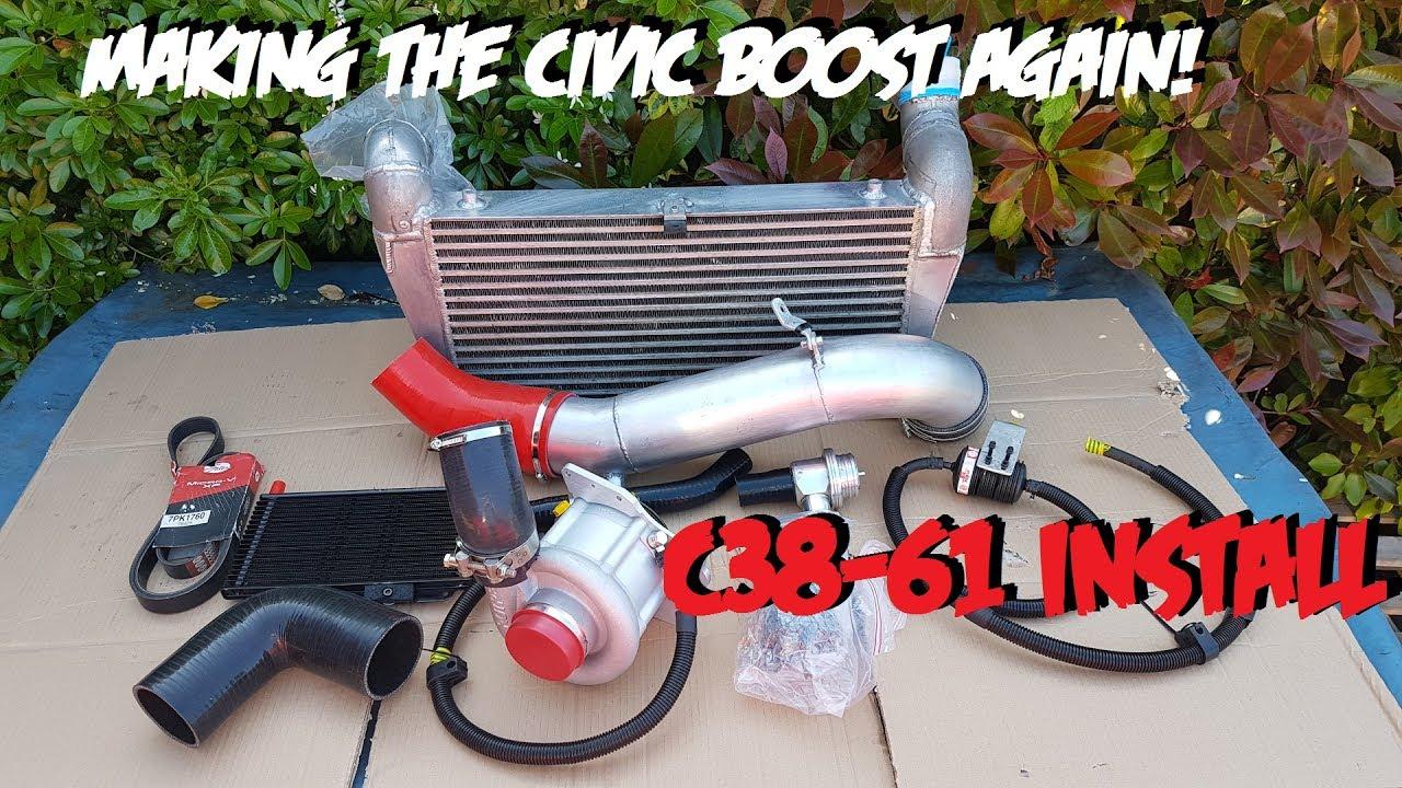 Rotrex C38-61Install & Overview - 435bhp Rotrex Honda Civic EP3 Type R K20 - YouTube