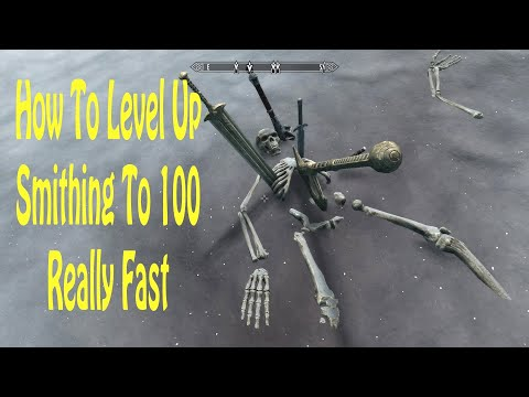 Skyrim How To Level Up Smithing To 100 Really Fast