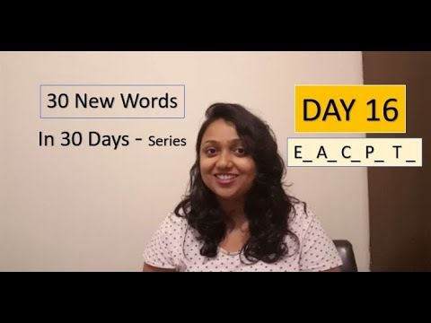 Day 16 30 New Words With Me In 30 Days Series Youtube