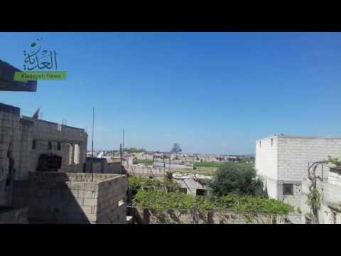 طائرات الأسد تستهدف الرستن شمال حمص