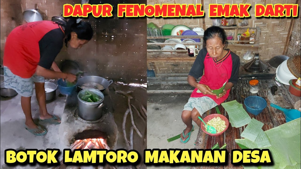 Emak Darti masak BOTOK LAMTORO | Masakan Khas Desa