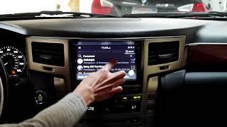 VLine Lexus LX 570 2013-2015 Demo - Google and Waze Maps, Spotify, Web Radio, Pandora, Play Market