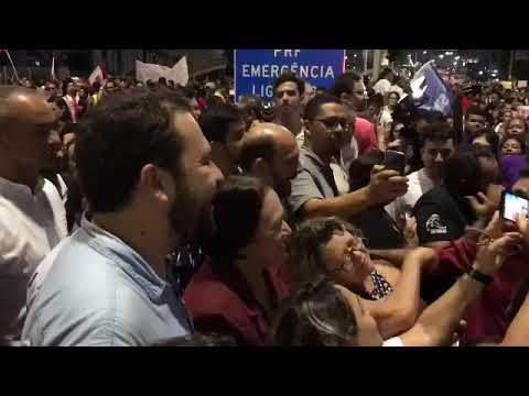 Fátima, Boulos, Mineiro e Antenor se juntam a manifestantes em Natal