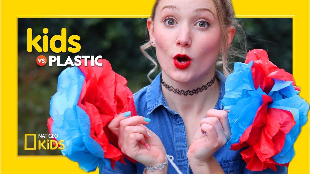 DIY Paper Pom Pom Decorations | Kids Vs. Plastic