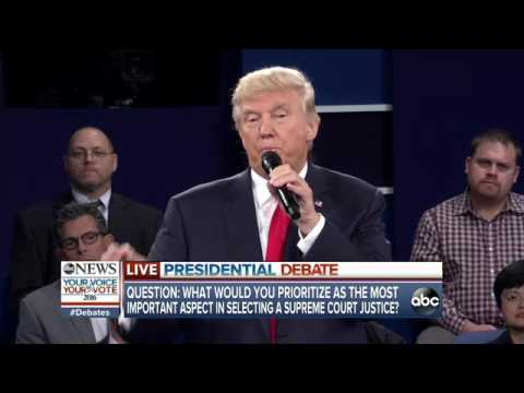 2nd PRESIDENTIAL DEBATE: Hillary Clinton, Donald Trump on Selection of Supreme Court Justice