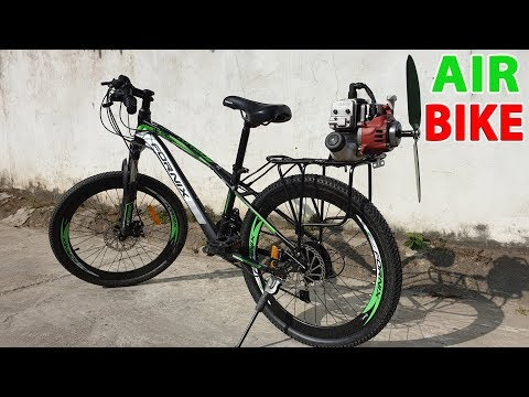 Build a Air Bike at home - v2 - Using 2-Stroke 33cc Engine - Tutorial