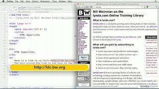 HTML tutorial: How to create a hyperlink | lynda.com