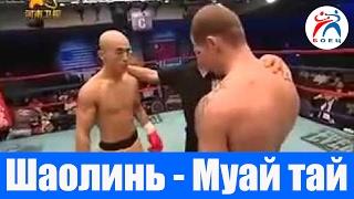 Шаолинь vs Муай тай. Бой на профессиональном ринге.