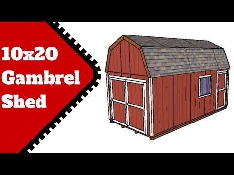 10x20 Gambrel Shed Plans
