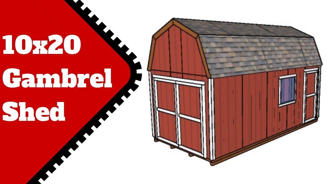 10x20 Gambrel Shed Plans | MyOutdoorPlans | Free Woodworking
