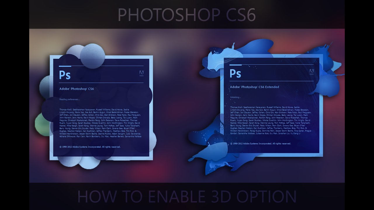 activate 3d photoshop cs6 free download mac