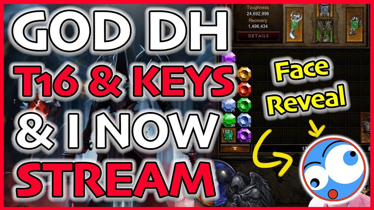 Face Reveal and Streaming! Diablo 3 GOD (Gears of Dreadland Key Farming) T16 Season 21 Patch 2.6.9