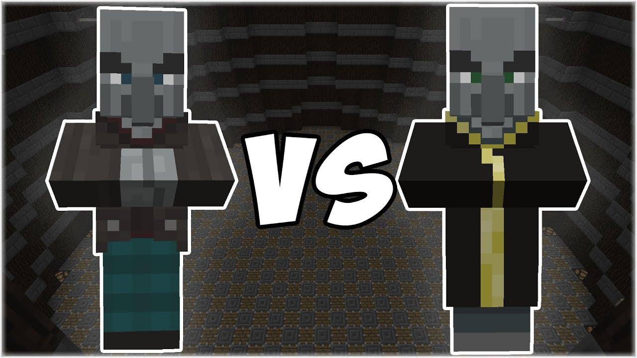 Vindicator vs Evoker - Minecraft Mob Battle