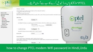 how to change ptcl modem wifi password in hindi urdu
