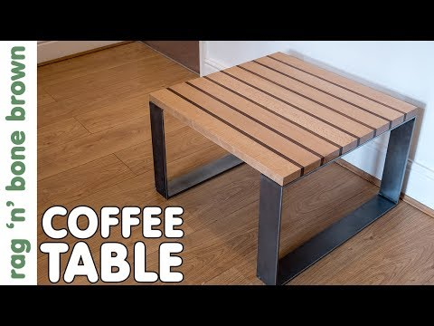 Making A Coffee Table With Metal Legs Using Other People's Junk!