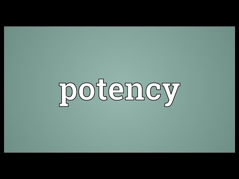 Potency Meaning