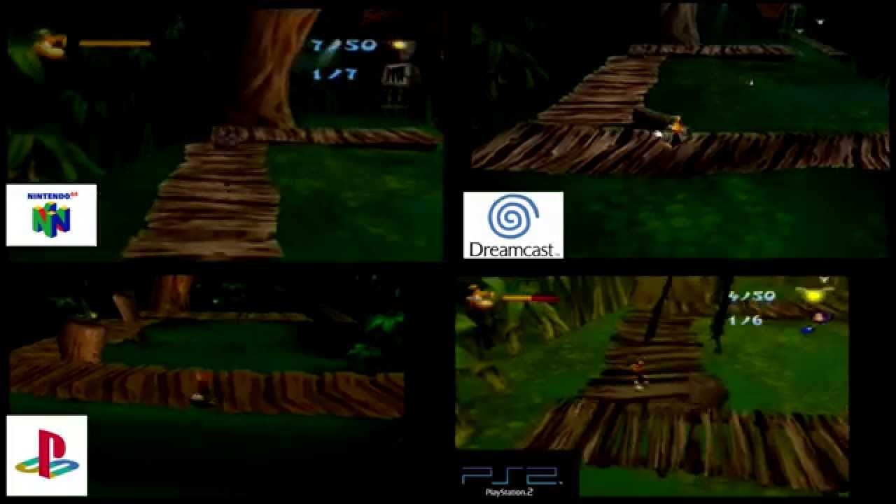 rayman 2 graphical comparison n64 dc ps1 amp ps2 hd