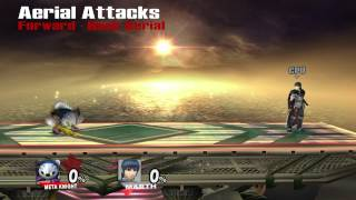 Super Smash Bros. Brawl: Metaknight - Moveset (1080p)
