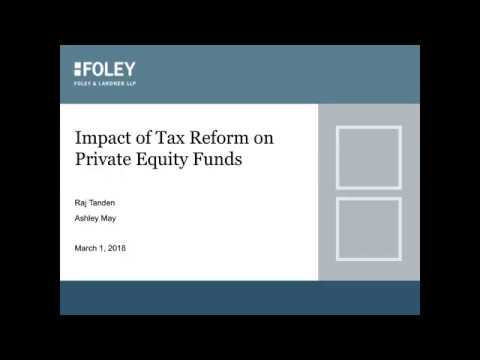 Impact of Tax Reform on Private Equity Funds