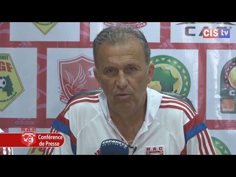 Conférence de Presse Victor Zvunka avant Horoya AC - AS Douanes